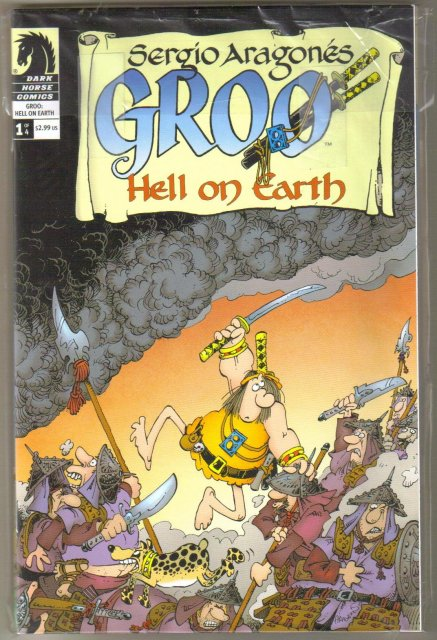 Groo Hell on Earth 4 issue comic book series near mint or better