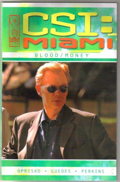 CSI: Miami Blood/Money comic book
