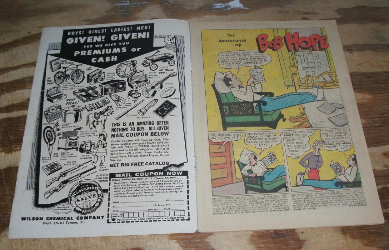 Adventures of Bob Hope #40 comic book vg/fn 5.0