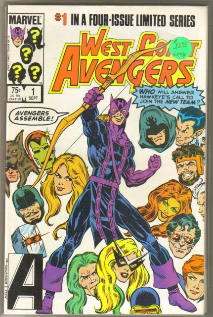 West Coast Avengers first 4 issues in  mint condition