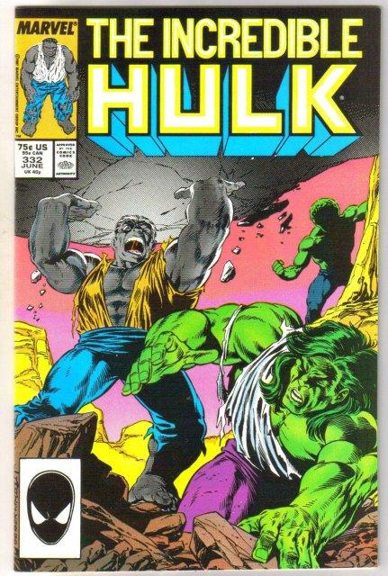 Incredible Hulk #332 comic book near mint 9.4