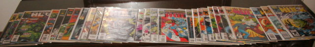 Incredible Hulk first series comic book collection of 27 near mint and better