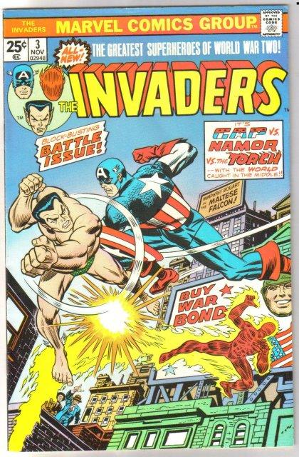Invaders #3 comic book very fine/near mint 9.0