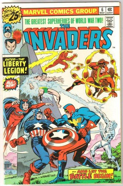Invaders #6 comic book near mint 9.4