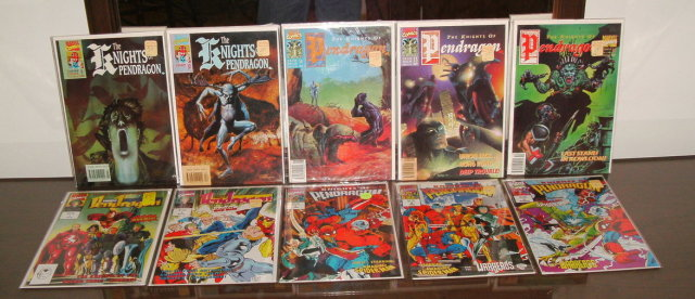 Knights of Pendragon 10 issue comic book collection