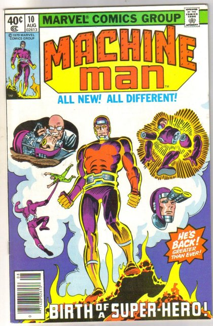 Machine Man #10 comic book near mint 9.4