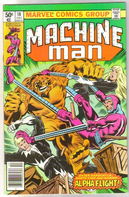 Machine Man #18 comic book near mint 9.4