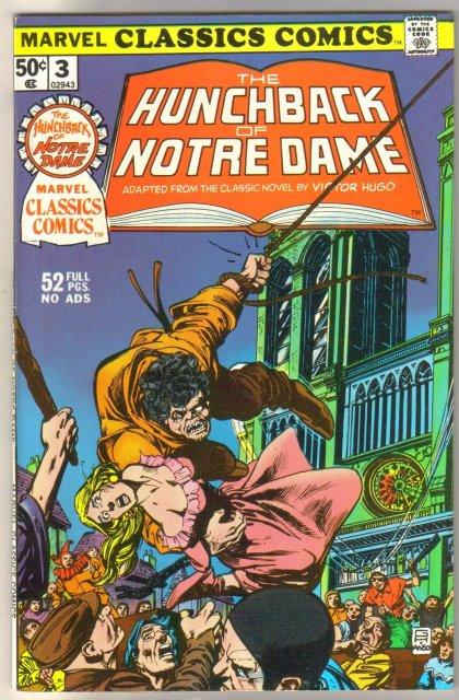 Marvel Classics Comics #3 The Hunchback of Notre Dame comic book very fine/near mint 9.0