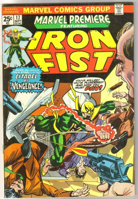 Marvel Premiere #17 featuring Iron Fist comic book very good/fine 5.0