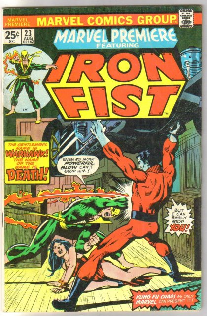 Marvel Premiere #23 featuring Iron Fist comic book fine 6.0