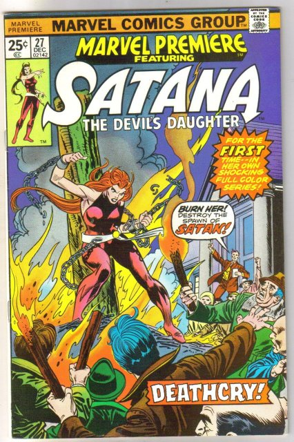 Marvel Premiere #27 featuring Satana the Devil's Daughter comic book very fine/near mint 9.0