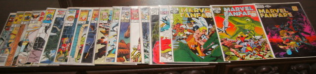 Marvel Fanfare collection of 19 comic books