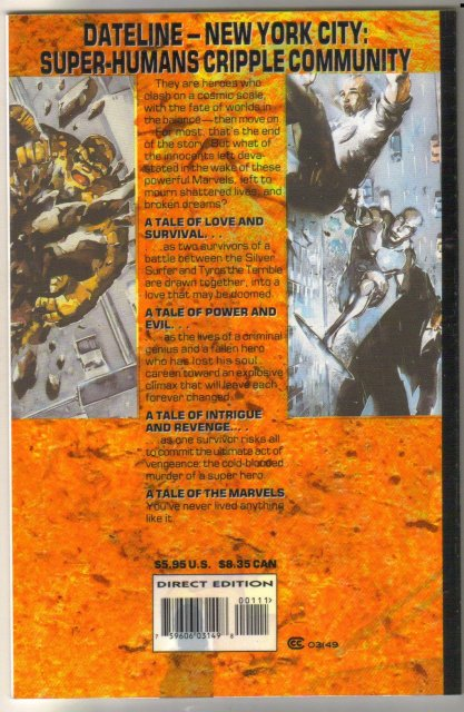 Tales of the Marvels Blockbuster comic book mint 9.8