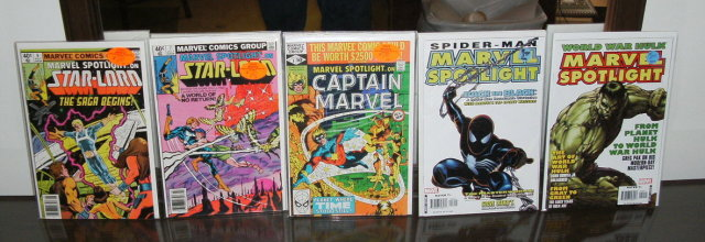 Marvel Spotlight 5 issue comic book collection