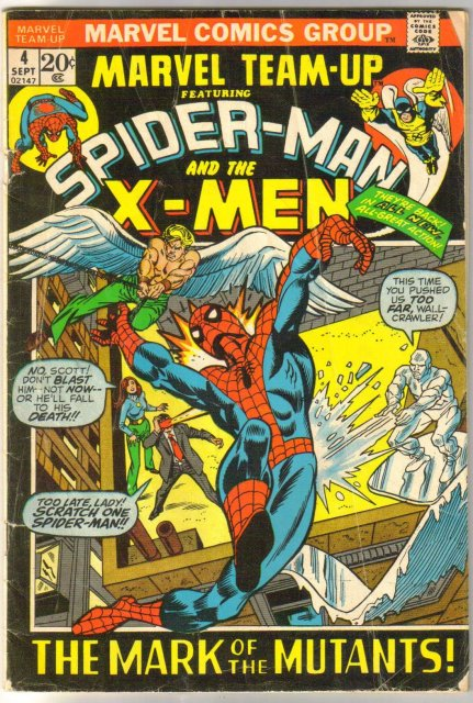 Marvel Team-up #4 featuring Spider-man and X-men comic book good/very good 3.0
