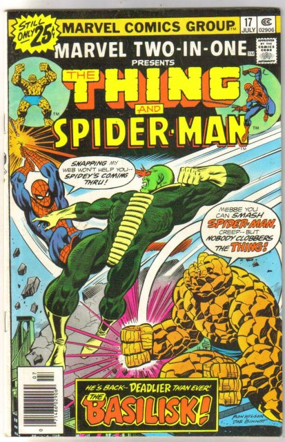 Marvel Two-In-One #17 featuring The Thing and Spider-man comic book very fine/near mint 9.0