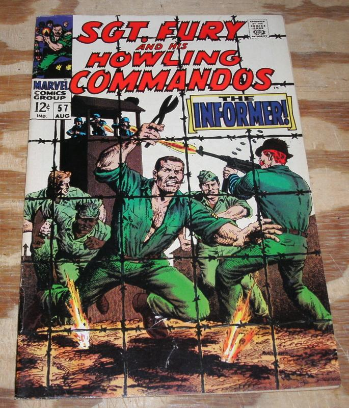 Sgt. Fury and His Howling Commandos #57 very fine 8.0