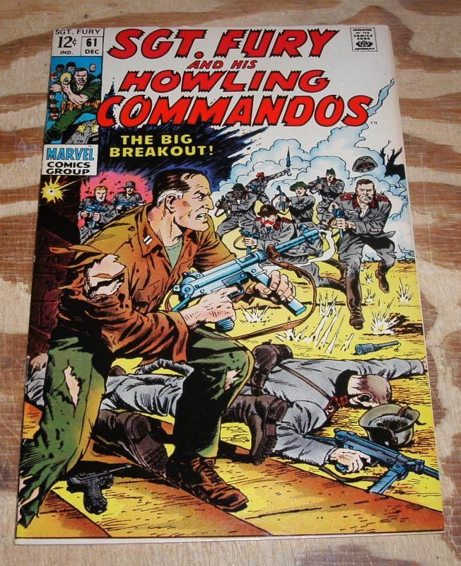 Sgt. Fury and His Howling Commandos #61 near mint plus 9.6