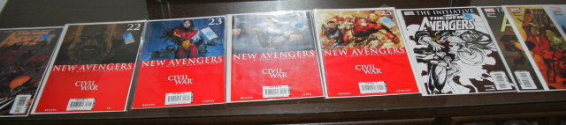 The New Avengers comic book assortment of 9 different averaging mint 9.8 condition
