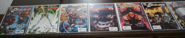 The New Excalibur comic book assortment of 7 different averaging mint 9.8 condition