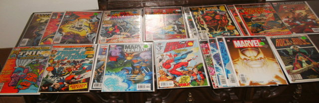 20 assorted miscellaneous Marvel comic books