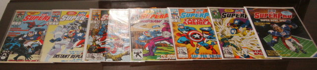 NFL Superpro 7 issue comic book collection