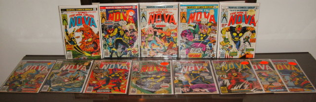 The Man Called Nova comic book collection of 13 issues