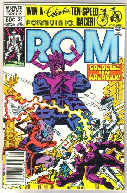 Rom Spaceknight #26 comic book near mint 9.4