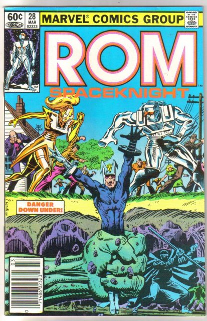 Rom Spaceknight #28 comic book near mint 9.4