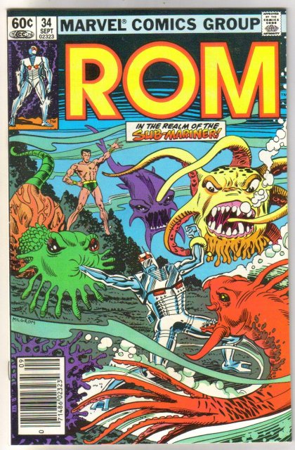 Rom Spaceknight #34 comic book near mint 9.4