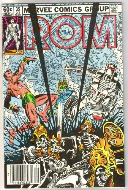 Rom Spaceknight #35 comic book near mint 9.4