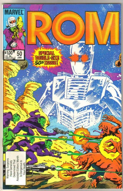 Rom Spaceknight #50 comic book near mint 9.4