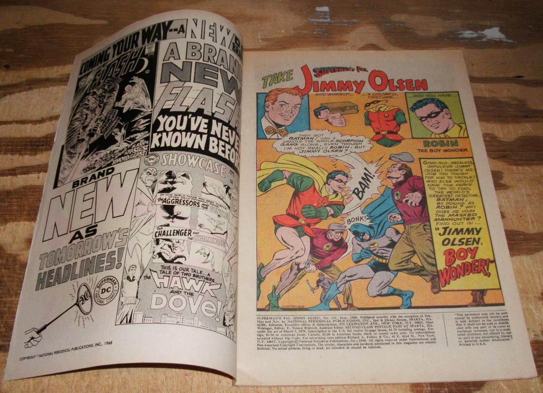 Superman's Pal Jimmy Olsen #111 very fine plus 8.5