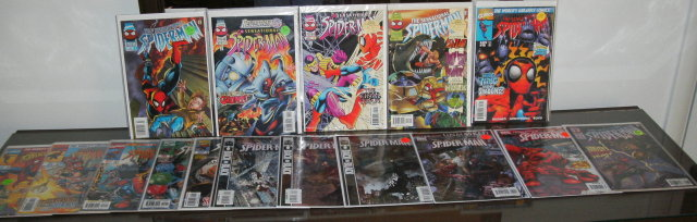 Sensational Spider-man 16 issue collection of comic books near mint or better