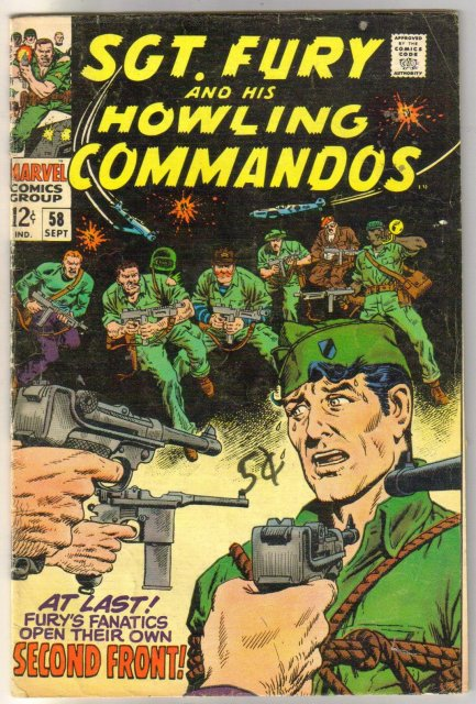 Sgt. Fury and His Howling Commandos #58 comic book very good 4.0