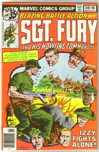 Sgt. Fury and His Howling Commandos #149  comic book fine/very fine 7.0