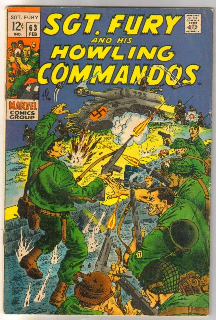 Sgt. Fury and His Howling Commandos #63  comic book very good/fine 5.0