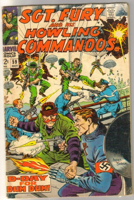 Sgt. Fury and His Howling Commandos #59  comic book very good/fine 5.0