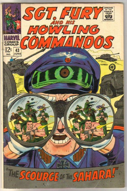 Sgt. Fury and His Howling Commandos #43  comic book very good/fine 5.0