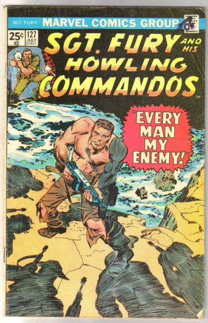 Sgt. Fury and His Howling Commandos #127  comic book very good/fine 5.0