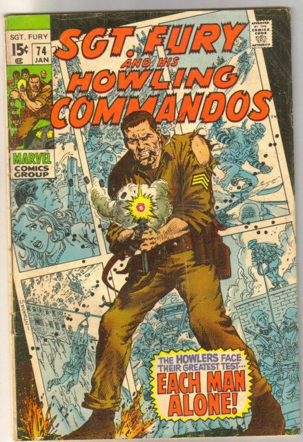 Sgt. Fury and His Howling Commandos #74  comic book very good 4.0