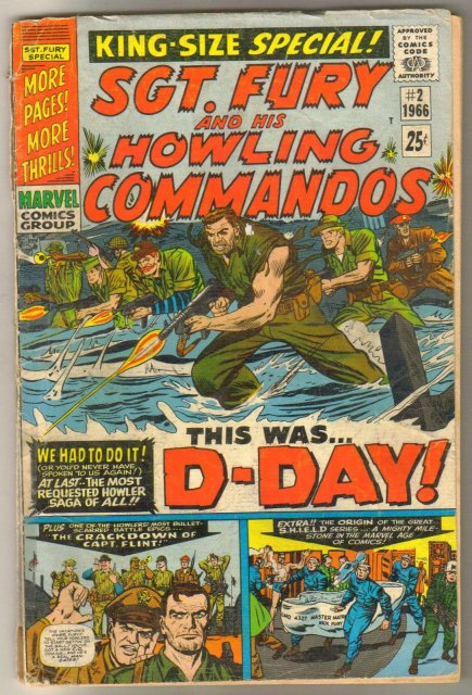 Sgt. Fury and His Howling Commandos king size special #2 comic book poor 1.0
