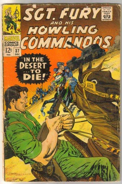 Sgt. Fury and His Howling Commandos #37 comic book fair 1.5