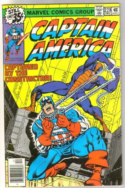 Captain America #228 comic book near mint 9.4