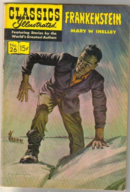 Classic Illustrated #26 hrn#146 Frankenstein by Mary W Shelley comic book fine 6.0