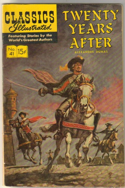 Classic Illustrated #41 hrn#167 Twenty Years After by Alexandre Dumas comic book fine 6.0