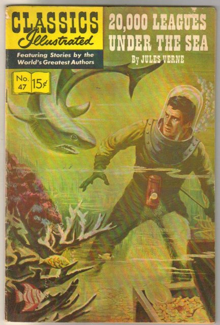 Classic Illustrated #47 hrn#165 20,000 Leagues Under the Sea by Jules Verne comic book fine 6.0