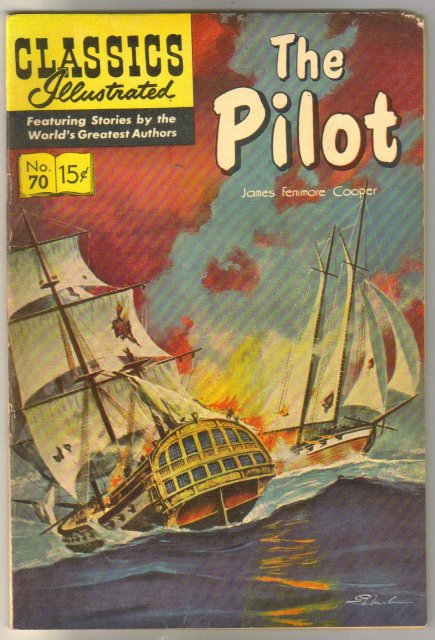 Classic Illustrated #70 hrn#156 The Pilot by James Fenimore Cooper comic book fine 6.0