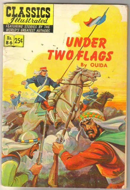 Classic Illustrated #86 hrn#169 Under Two Flags by Ouida comic book fine 6.0