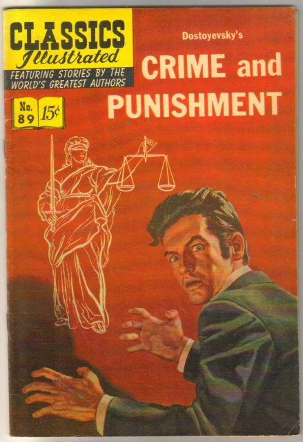 Classic Illustrated #89 hrn#152 Crime and Punishment by Dostoyevsky comic book fine 6.0